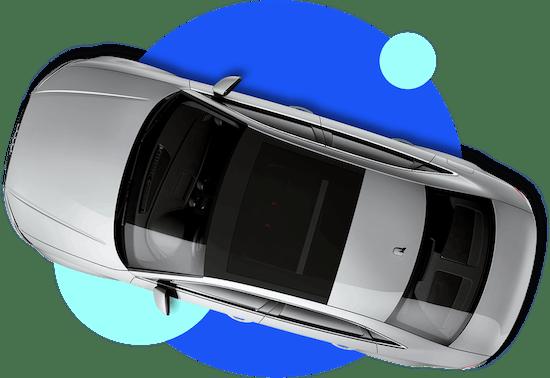 car birdseye view